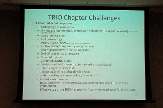 Facing the TRIO Chapter Challenge